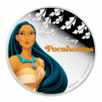 2 dollars Niue 2016 1 once argent BE - Pocahontas Revers