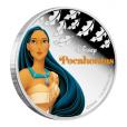 2 dollars Niue 2016 1 once argent BE - Pocahontas Revers (visuel supplémentaire)