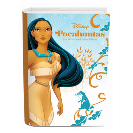 2 dollars Niue 2016 1 once argent BE - Pocahontas (packaging)