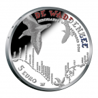 5 euro Pays-Bas 2016 argent BE - Mer des Wadden (légende aux couleurs du drapeau des Pays-Bas) Revers