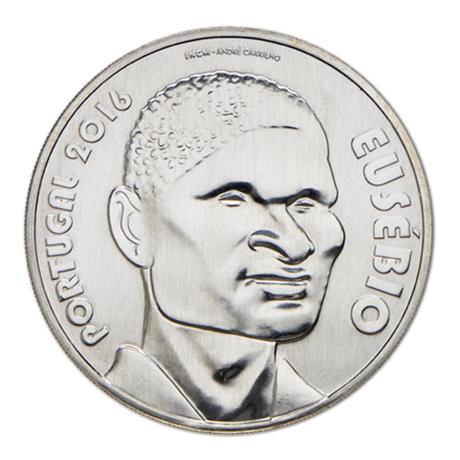 7,50 euro Portugal 2016 argent - Eusébio Avers