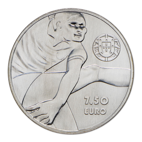 7,50 euro Portugal 2016 argent - Eusébio Revers