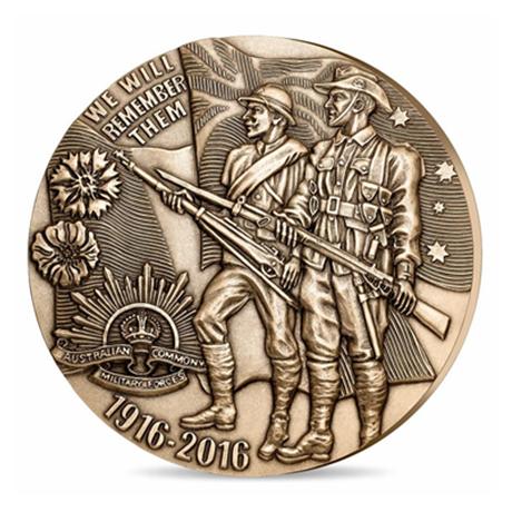 Médaille bronze florentin - Soldats de la Grande Guerre Avers