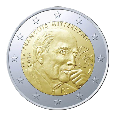 2 euro commémorative France 2016 - François Mitterrand