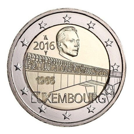 2 euro commémorative Luxembourg 2016 - Pont Grande-Duchesse Charlotte