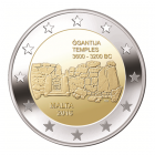 2 euro commémorative Malte 2016 - Ġgantija Avers