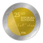 2 euro commémorative Slovénie 2016 - Indépendance de la Slovénie Avers