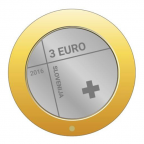 3 euro Slovénie 2016 - Croix Rouge Avers