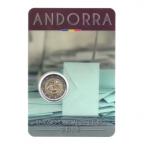 (EUR24.ComBU&BE.2015.200.BU.COM2.cp5.48780) 2 euro commémorative Andorre 2015 BU - Age légal de la majorité Recto