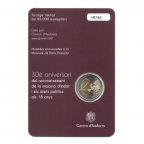 (EUR24.ComBU&BE.2015.200.BU.COM2.cp5.48780) 2 euro commémorative Andorre 2015 BU - Age légal de la majorité Verso