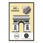 (FMED.Méd.tourist.n.d._2016_.CuNi1) Jeton touristique - Arc de Triomphe Recto