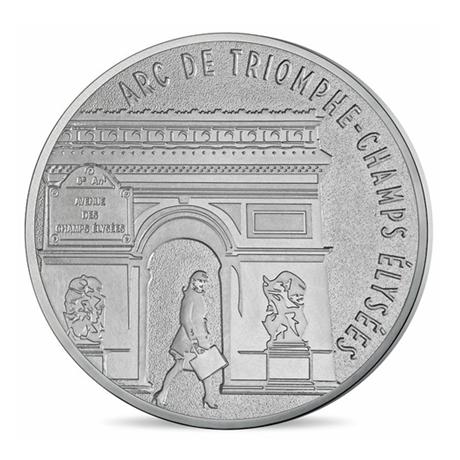 (FMED.Méd.tourist.n.d._2016_.CuNi3) Jeton touristique - Champs Elysées Avers