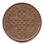 (W176.0500.1975.1.7.000000001) 50 Centavos aux cinq écussons en croix 1975 Avers