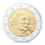 2 euro commémorative France 2016 BE - François Mitterrand Avers
