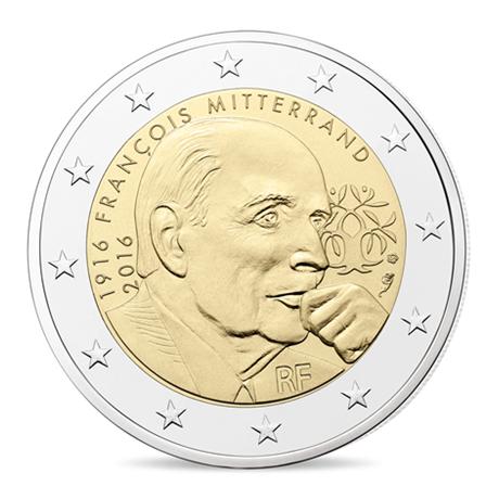 2 euro commémorative France 2016 BE - François Mitterrand Avers
