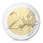 2 euro commémorative France 2016 BE - François Mitterrand Revers