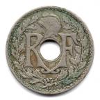 (FMO.005.1930.10.12.000000001) 5 centimes Lindauer, little diameter 1930 Obverse