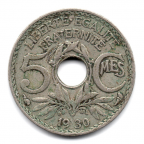 (FMO.005.1930.10.12.000000001) 5 centimes Lindauer, little diameter 1930 Reverse