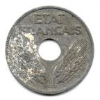 (FMO.010.1941.10.1.000000001) 10 centimes État Français, grand module 1941 Avers