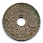 (FMO.025.•1939•.16.2.000000002) 25 centimes Lindauer, zinc-copper-nickel •1939• Reverse
