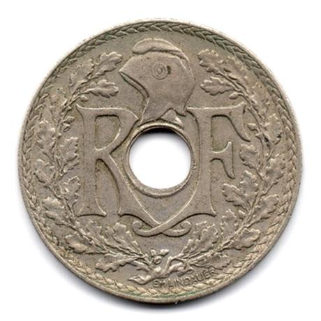 (FMO.025.•1939•.16.2.000000004) 25 centimes Lindauer, maillechort •1939• Avers
