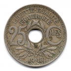 (FMO.025.1918.15.2.000000001) 25 centimes Lindauer 1918 Revers