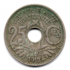 (FMO.025.1924.15.8.000000001) 25 centimes Lindauer 1924 Revers