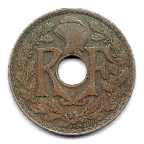 (FMO.025.1925.15.9.000000001) 25 centimes Lindauer 1925 Avers