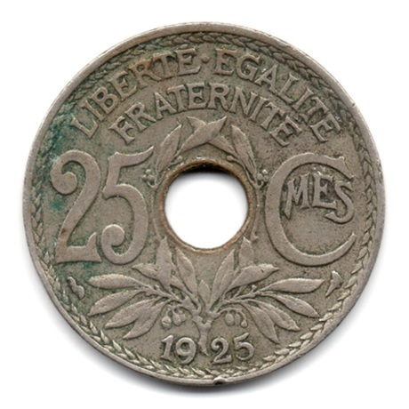 (FMO.025.1925.15.9.000000001) 25 centimes Lindauer 1925 Revers