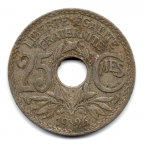 (FMO.025.1926.15.10.000000001) 25 centimes Lindauer 1926 Revers