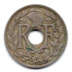 (FMO.025.1927.15.11.000000001) 25 centimes Lindauer 1927 Avers