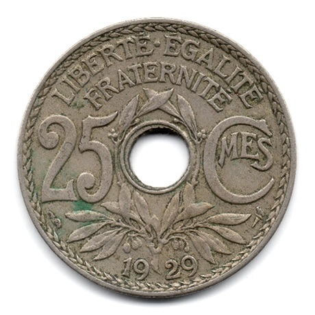 (FMO.025.1929.15.13.000000001) 25 centimes Lindauer 1929 Revers