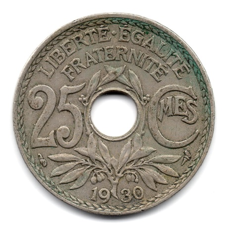 (FMO.025.1930.15.14.000000001) 25 centimes Lindauer 1930 Revers