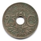 (FMO.025.1933.15.17.000000001) 25 centimes Lindauer 1933 Revers
