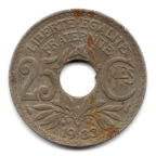 (FMO.025.1933.15.17.000000002) 25 centimes Lindauer 1933 Revers