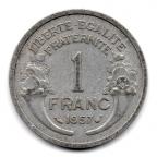 (FMO.1.1957.22.17.000000001) 1 Franc Morlon, légère 1957 Revers