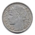 (FMO.1.1958_B.22.20.000000001) 1 Franc Morlon, légère 1958 B Avers
