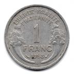 (FMO.1.1958_B.22.20.000000001) 1 Franc Morlon, légère 1958 B Revers