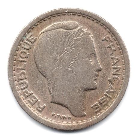 (W006.2000.1949.1.000000001) 20 Francs Turin 1949 Avers