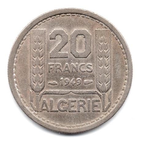 (W006.2000.1949.1.000000001) 20 Francs Turin 1949 Revers