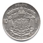 (W023.1000.1976.1.1.000000001) 10 Francs Baudouin 1976 - Légende flamande Revers