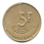 (W023.500.1988.1.000000001) 5 Francs Baudouin 1988 - Légende flamande Revers