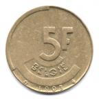 (W023.500.1993.1.1.000000001) 5 Francs Baudouin 1993 - Légende flamande Revers