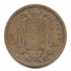 (W064.001.1944.1.000000001) 1 Peseta Armoiries 1944 Avers