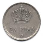 (W064.025.1982.1.000000001) 25 Pesetas Juan Carlos Ier 1982 Revers