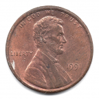 (W071.001.1991.1.000000001) 1 cent Lincoln 1991 Avers