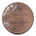 (W071.001.1991.1.000000001) 1 cent Lincoln 1991 Revers