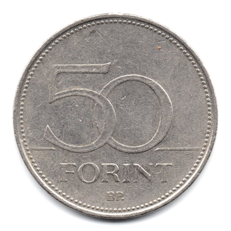(W094.5000.1995.1.000000001) 50 Forint Faucon 1995 Revers