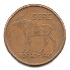(W161.005.1960.1.000000001) 5 Øre Elan 1960 Revers