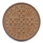 (W176.0500.1971.1.3.000000001) 50 Centavos aux cinq écussons en croix 1971 Avers